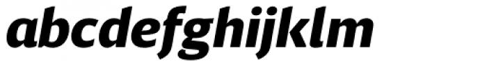 Breve Sans Text Black Italic Font LOWERCASE
