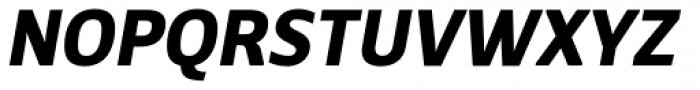 Breve Sans Text Bold Italic Font UPPERCASE