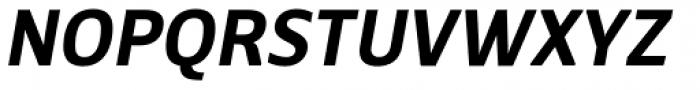 Breve Sans Text Semi Bold Italic Font UPPERCASE