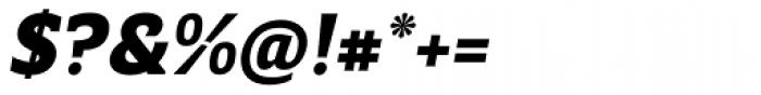 Breve Slab Text Black Italic Font OTHER CHARS