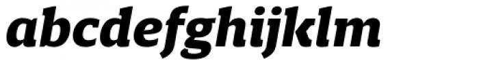 Breve Slab Text Black Italic Font LOWERCASE
