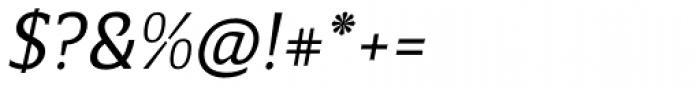 Breve Slab Text Light Italic Font OTHER CHARS