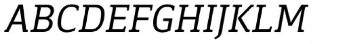 Breve Slab Text Light Italic Font UPPERCASE