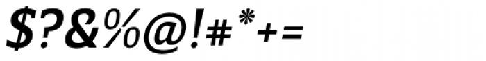 Breve Slab Text Medium Italic Font OTHER CHARS