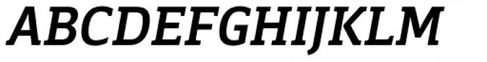 Breve Slab Text Medium Italic Font UPPERCASE