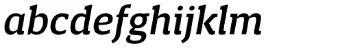 Breve Slab Text Medium Italic Font LOWERCASE
