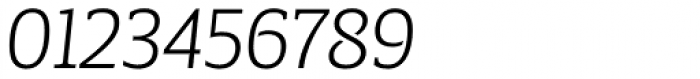 Breve Slab Title Extra Light Italic Font OTHER CHARS