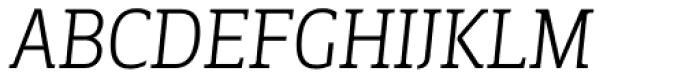Breve Slab Title Extra Light Italic Font UPPERCASE