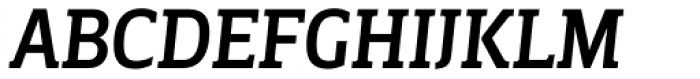 Breve Slab Title Medium Italic Font UPPERCASE