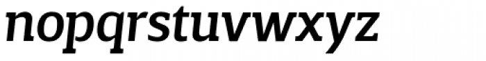Breve Slab Title Medium Italic Font LOWERCASE