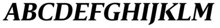 Breve Text Bold Italic Font UPPERCASE