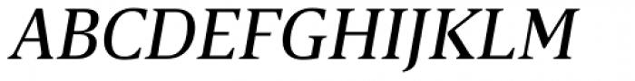 Breve Text Book Italic Font UPPERCASE