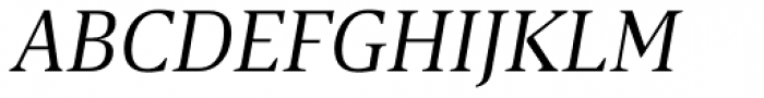 Breve Text Light Italic Font UPPERCASE