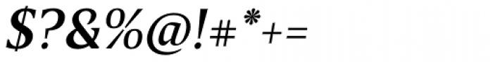 Breve Text Medium Italic Font OTHER CHARS