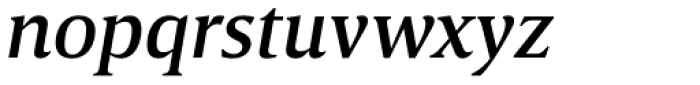 Breve Text Medium Italic Font LOWERCASE