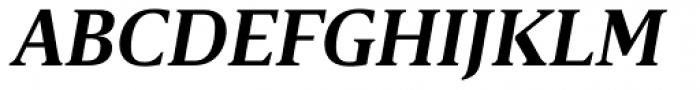Breve Text Semi Bold Italic Font UPPERCASE