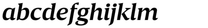 Breve Text Semi Bold Italic Font LOWERCASE