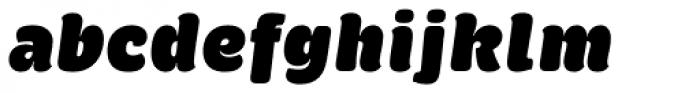 Brevia ExtraBlack Italic Font LOWERCASE