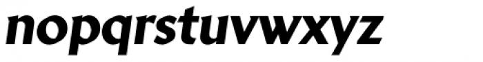 Brewery No 2 Paneuropean Heavy Italic Font LOWERCASE