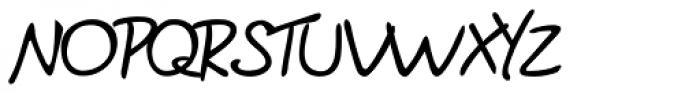 Brian Handwriting Font UPPERCASE