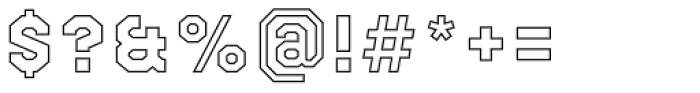 Bricbrac Border Thin Font OTHER CHARS