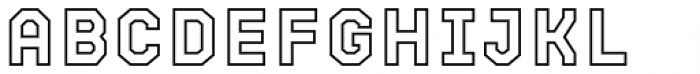 Bricbrac Border Font LOWERCASE