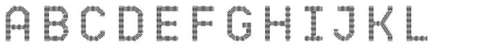 Bricbrac Pattern Font UPPERCASE