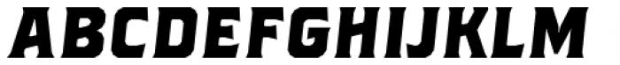 Brickton Regular Slanted Font LOWERCASE