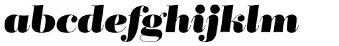 Bridone Titling Heavy Italic Font LOWERCASE