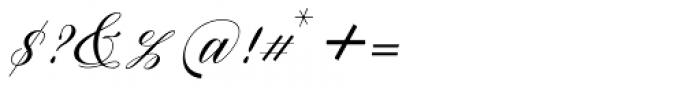 Brigattin Regular Font OTHER CHARS