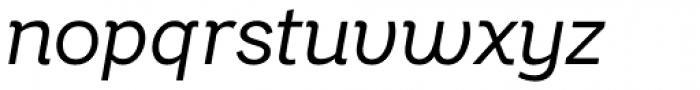 Bright Grotesk Book Italic Font LOWERCASE