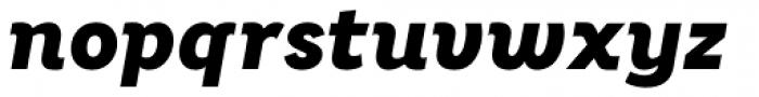 Bright Grotesk ExtraBold Italic Font LOWERCASE