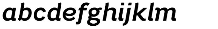 Bright Grotesk Semibold Italic Font LOWERCASE