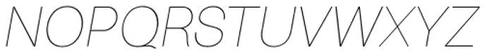 Bright Grotesk Thin Italic Font UPPERCASE
