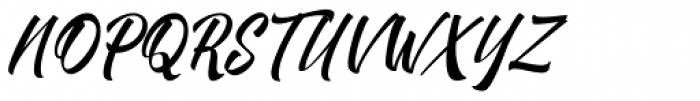Brighten Italic Font UPPERCASE