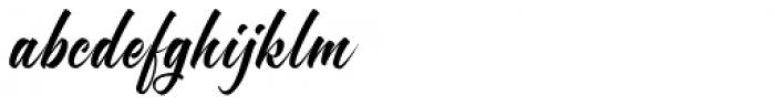 Brighten Italic Font LOWERCASE