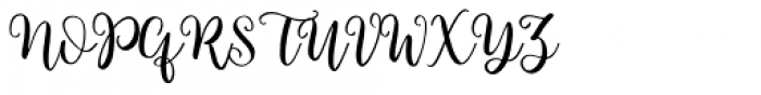 Brigitte Regular Font UPPERCASE