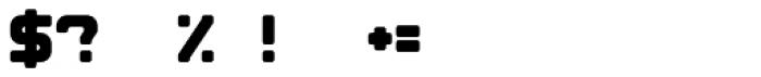Brik Regular Font OTHER CHARS