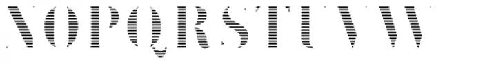 Brim Narrow Fat Lines Font UPPERCASE
