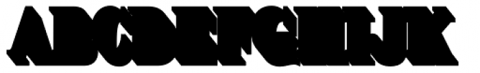 Brim Narrow Full Extrude Outline Font LOWERCASE