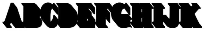 Brim Narrow Full Extrude Font UPPERCASE