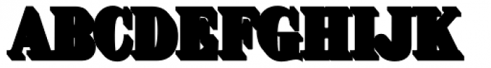 Brim Narrow Half Extrude Outline Font LOWERCASE