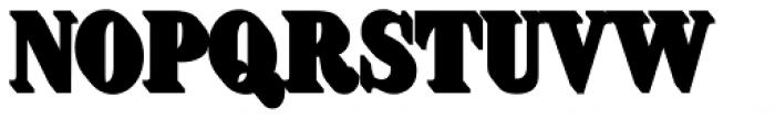 Brim Narrow Half Extrude Font UPPERCASE
