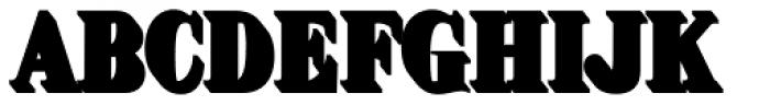Brim Narrow Half Extrude Font LOWERCASE