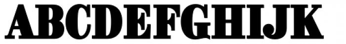 Brim Narrow Outline Font UPPERCASE
