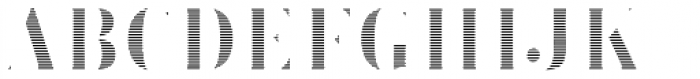 Brim Narrow Thin Lines Font LOWERCASE