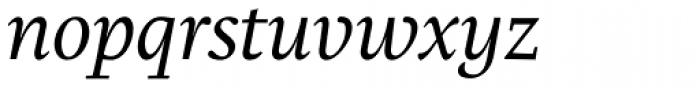 Brioni Std Light Italic Font LOWERCASE