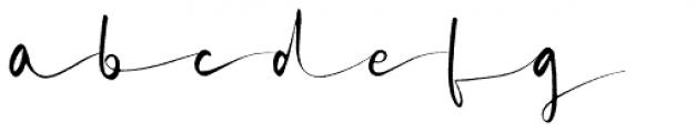 Briosh Rough Font LOWERCASE