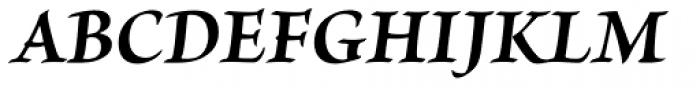 Brioso Pro Bold Italic Font UPPERCASE