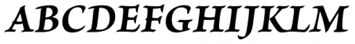Brioso Pro Caption Bold Italic Font UPPERCASE